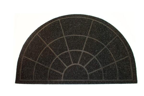 musta puolikaaren muotoinen kynnysmatto