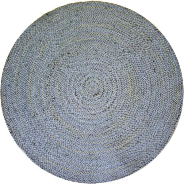 hopean värinen pyöreä juuttimatto Sommar