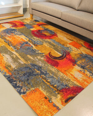 värikäs matto