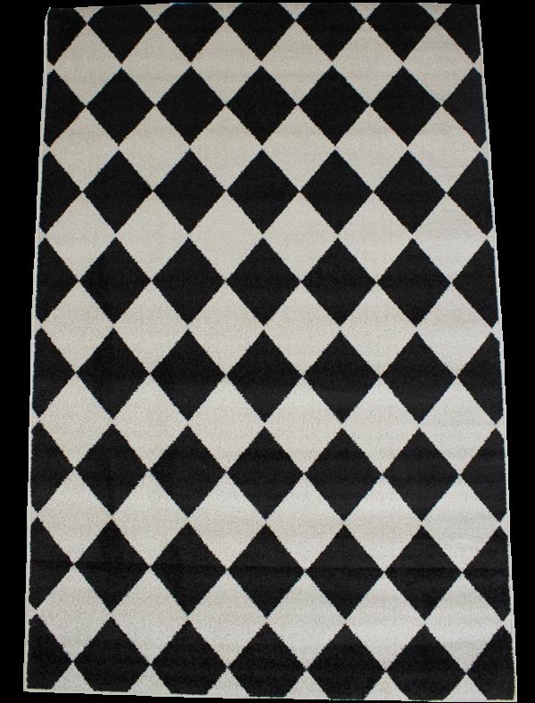 mustavalkoinen poypropeeni matto tuotekuva