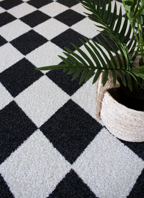 mustavalkoinen poypropeeni matto lähikuva